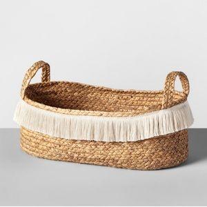 OpalHouse  hyacinth fringe natural oval Basket